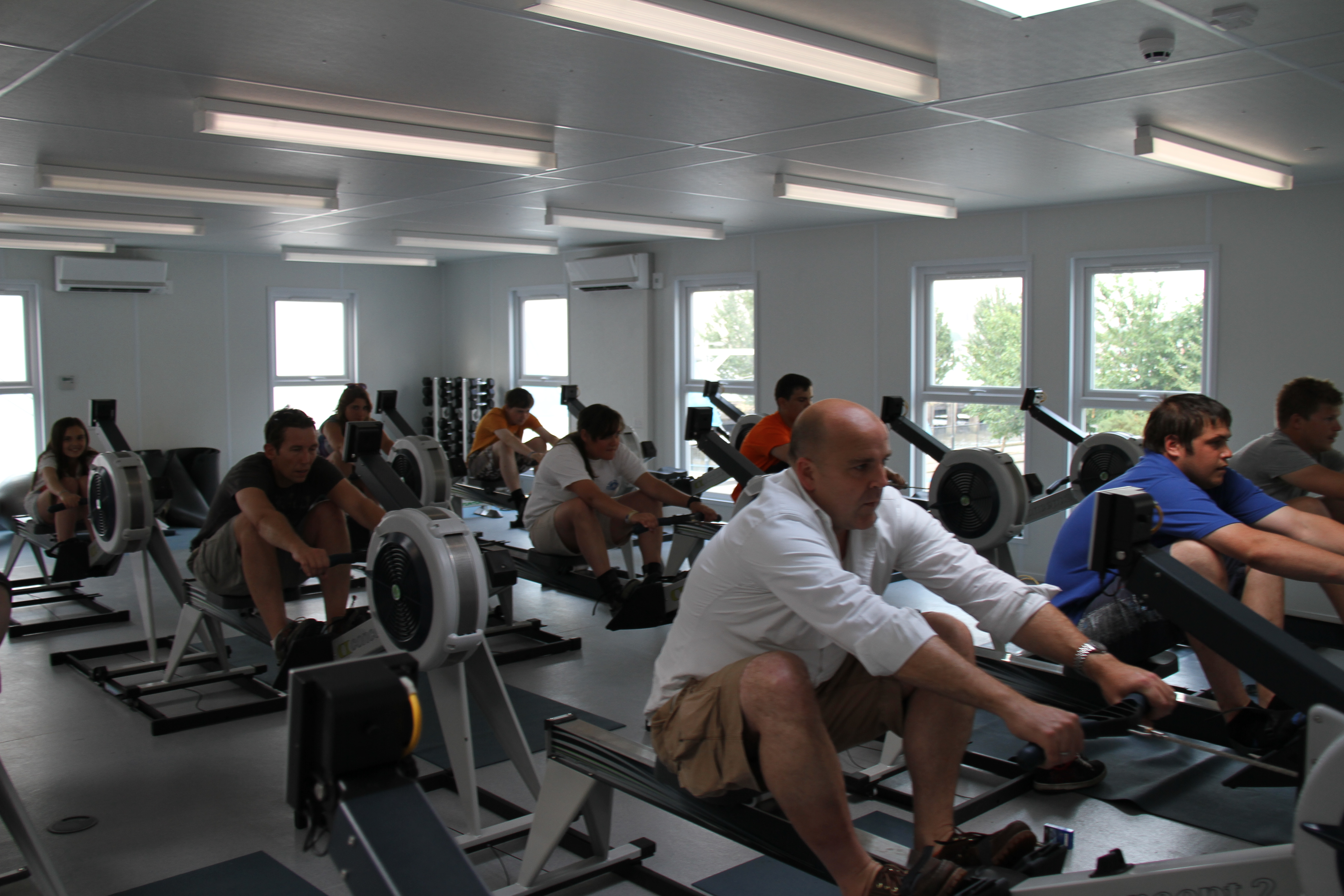 Dry rowing the ahoy centre