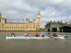 Thames Houses of Parliament Tower Bridge London Rowing English Channel Charity