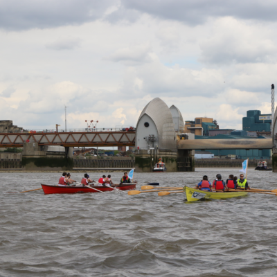 Thames Barrier London Rowing Sunset Charity Challenge